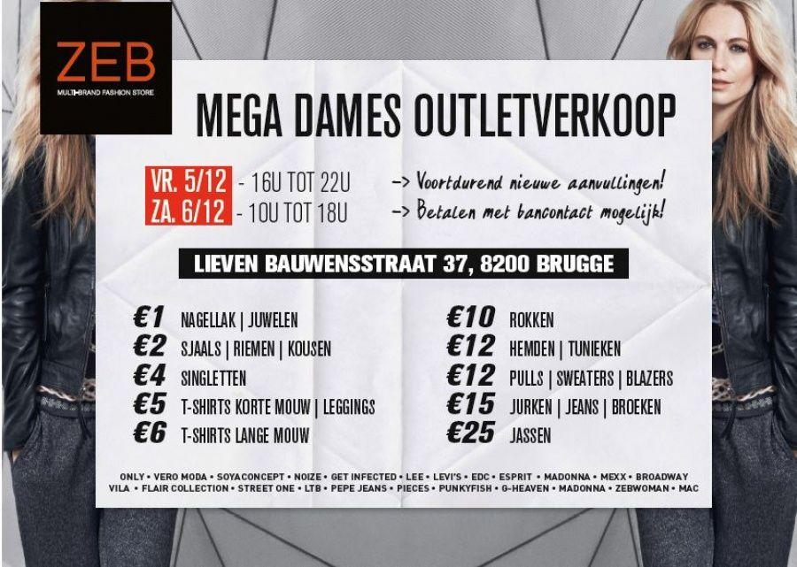 ZEB outlet verkoop Brugge -- Brugge -- 05/12-07/12