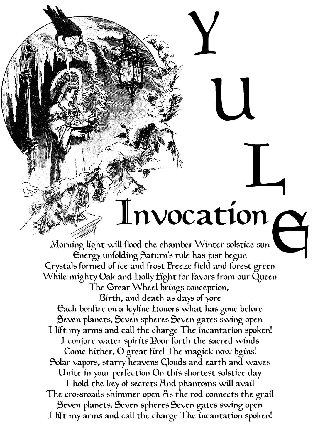An invocation for Yule time | Witch | Pinterest | Yule, Winter ...