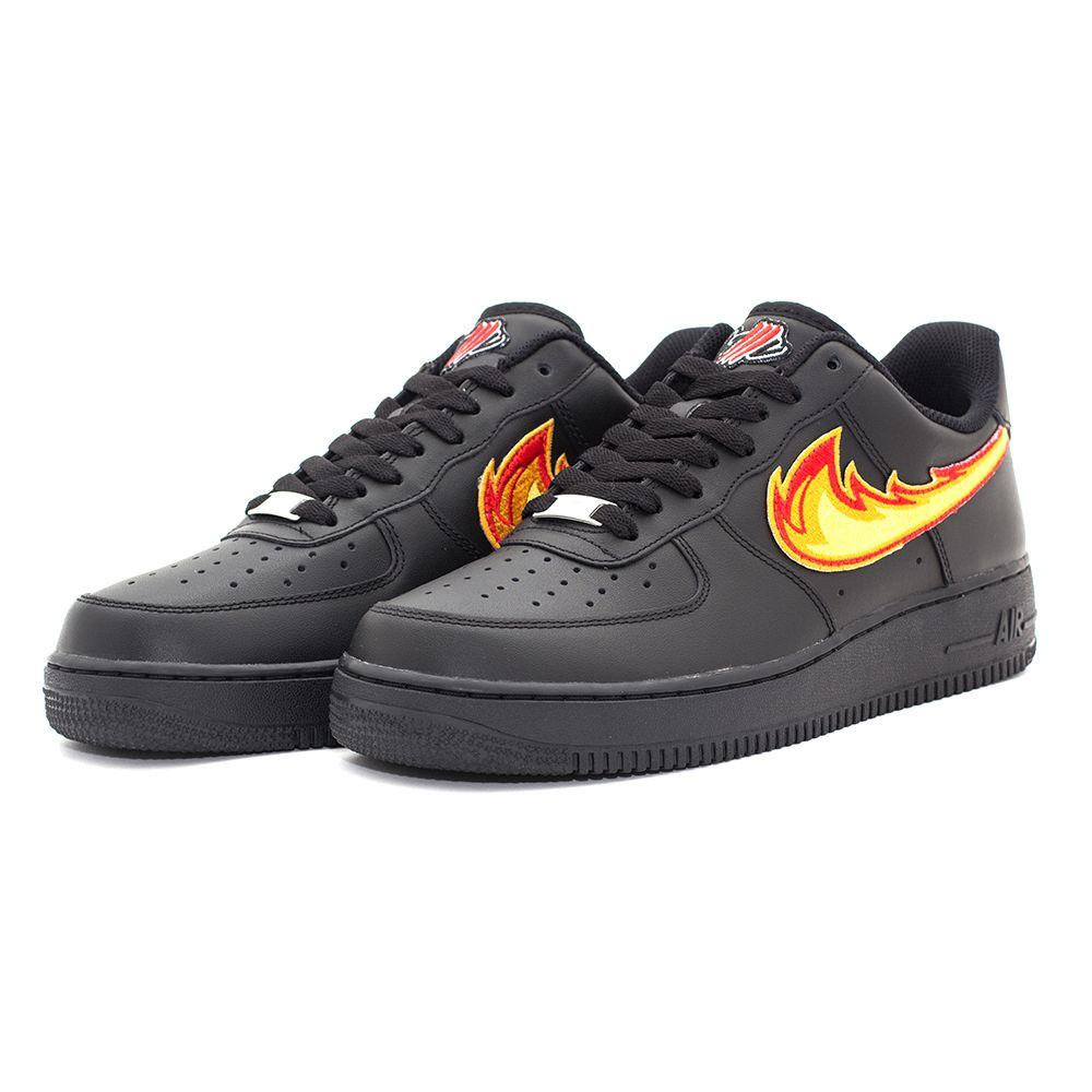 pretty nice 26106 50a3f DRAGON BREATH AIR FORCE 1 Black Low Custom Sneakers – STILLALIVE, nike,  swoosh, custom kicks, fire, art work, low sneakers