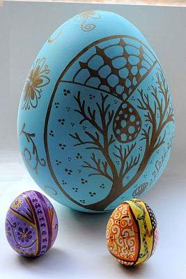 Sharpie Easter Eggs Art