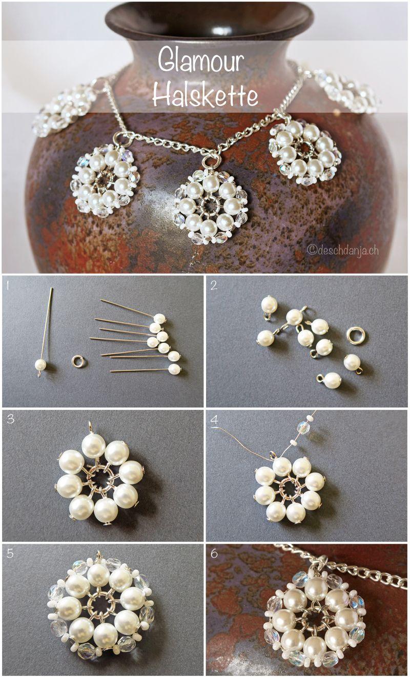 Glamourhalskette | jewelry | Pinterest | Schmuck, Schmuck basteln ...