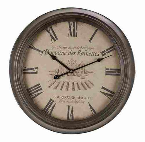 I found this on boutique-de-la-mer.com  - NEW Metal Wall Clock  $84.89
