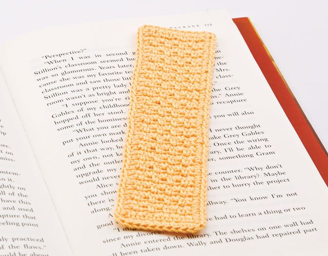 Seed Stitch Bookmark featured in Learn to Crochet With Thread with ...