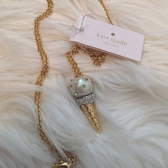 LOWEST **BNWT** kate spade Carnival Nights pendant Brand-new with tags! Lobster claw closure, 12-karat gold plated metal with faux pearl and glass multi-colored stones. So sweet. Comes with original dust bag and box! kate spade Jewelry Necklaces