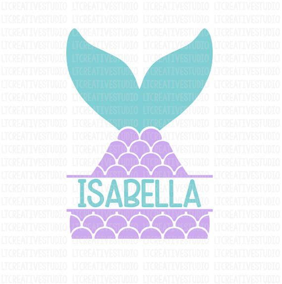 ce99fa8ab4c3 Mermaid Tail SVG, Split Mermaid Monogram Svg, Mermaid SVG, Mermaid Shell  Svg, Summer SVG, Cutting Fi