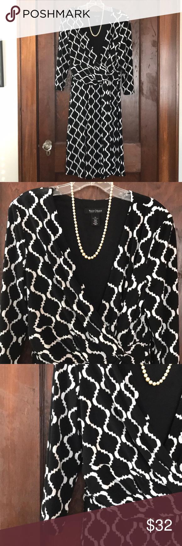 Uclisting long sleeve black u white wrap dress white wrap dress