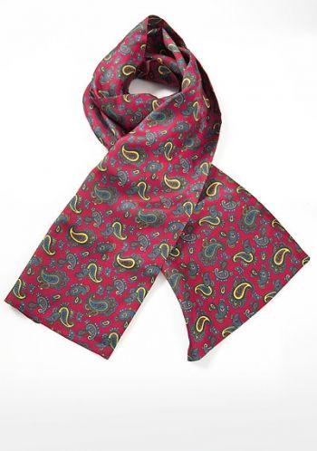 Herren Krawatten Schal mit Einstecktuch mehrfarbig Leoparden Muster Satin NEU