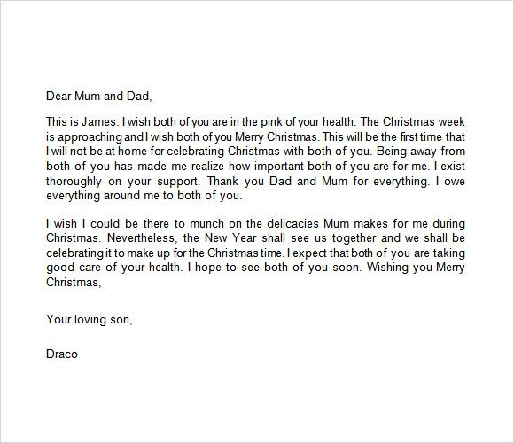 Sample Christmas Letter Documents Pdf Word Employee Thank You