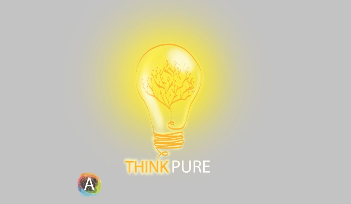 """""""THINK PURE"""" logo design by :  Insta:  @alobiad_industries @_ahmed_alobaid__   And now you can design your own logo by contacting @alobaid_industries ."""