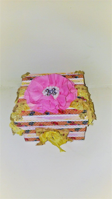 Girls Princess Pink Decorative Wooden Box Shabby Chic Cottage Decor ...