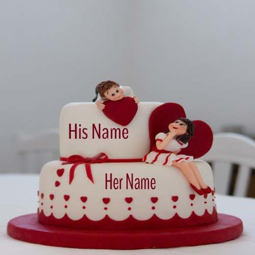 Write Your Name On Flower Birthday Cake For Mom Marriage Anniversary Cake Happy Anniversary Cakes Anniversary Cake