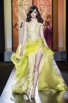 #Citrine #Evening Dress -  Atelier Versace Autumn Winter 2012