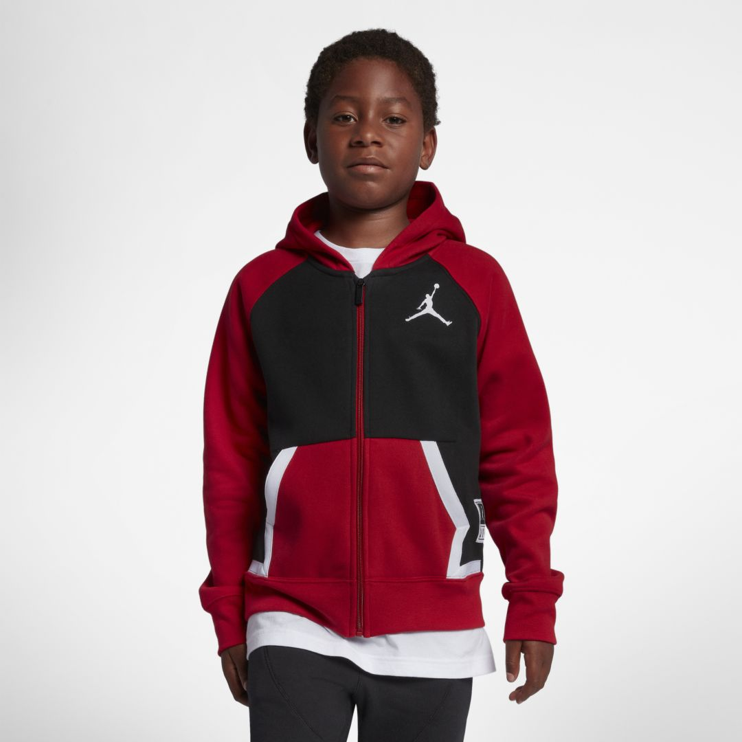 584554a1551fd9 Jordan Diamond Big Kids  (Boys ) Fleece Full-Zip Hoodie Size XL (Black)