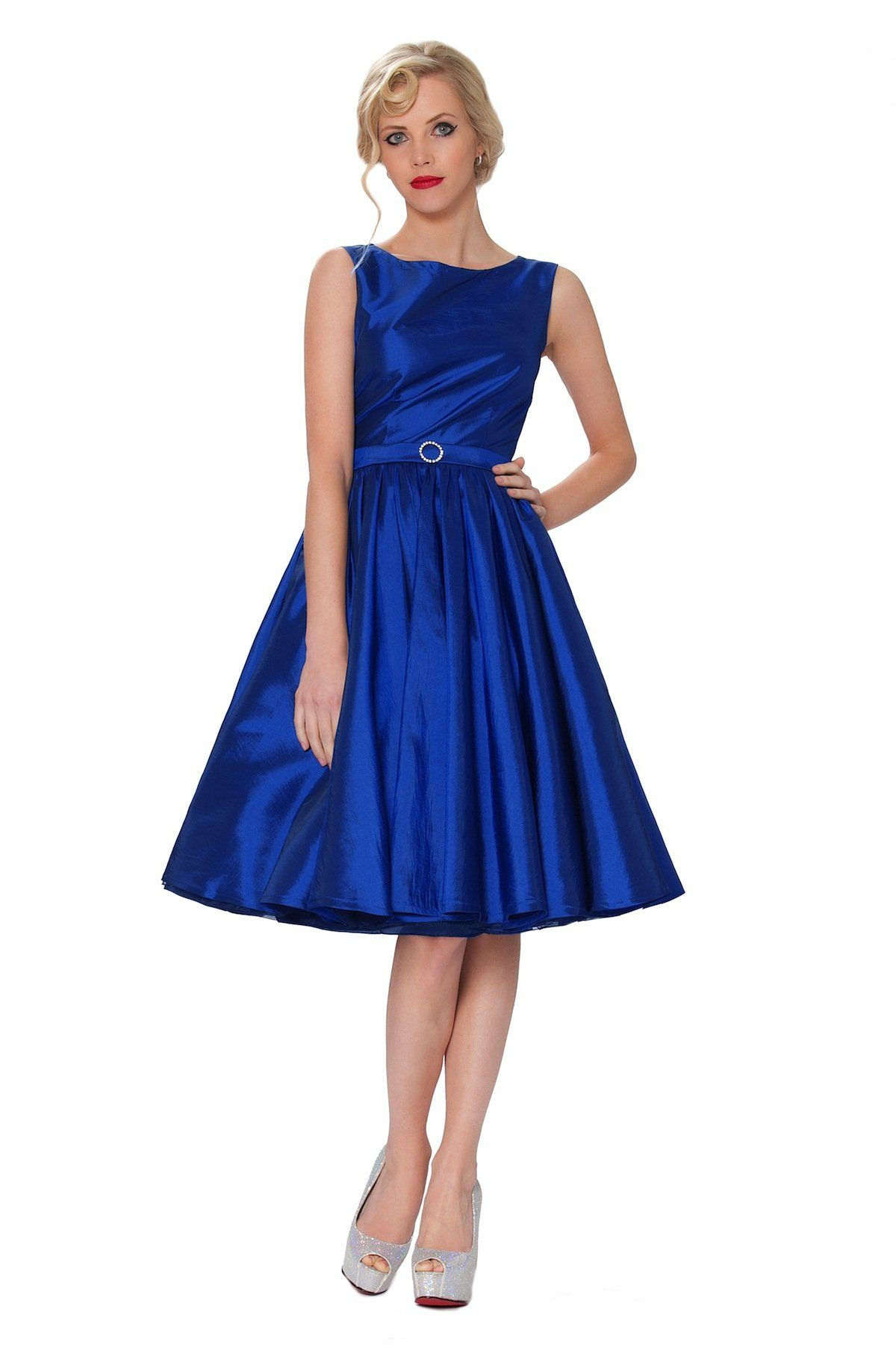 Blue and purple wedding dress  SEXYHER Clothing Classy Audrey Hepburn Style Vintage Classic us