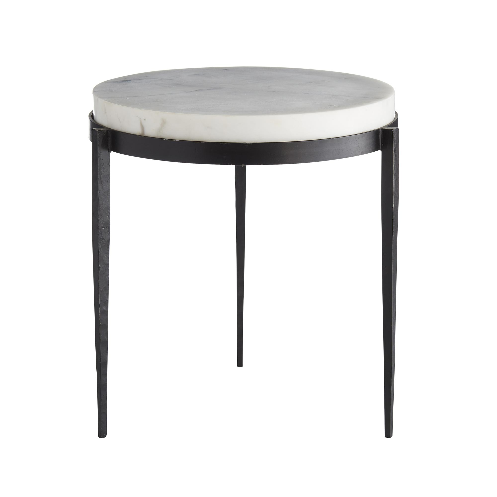 kelsie side table marble accent table