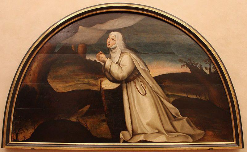 Suor Plautilla Nelli (1524-1588), Santa Caterina da Siena riceve le Stigmate, Firenze,  Museo del Cenacolo di Andrea del Sarto