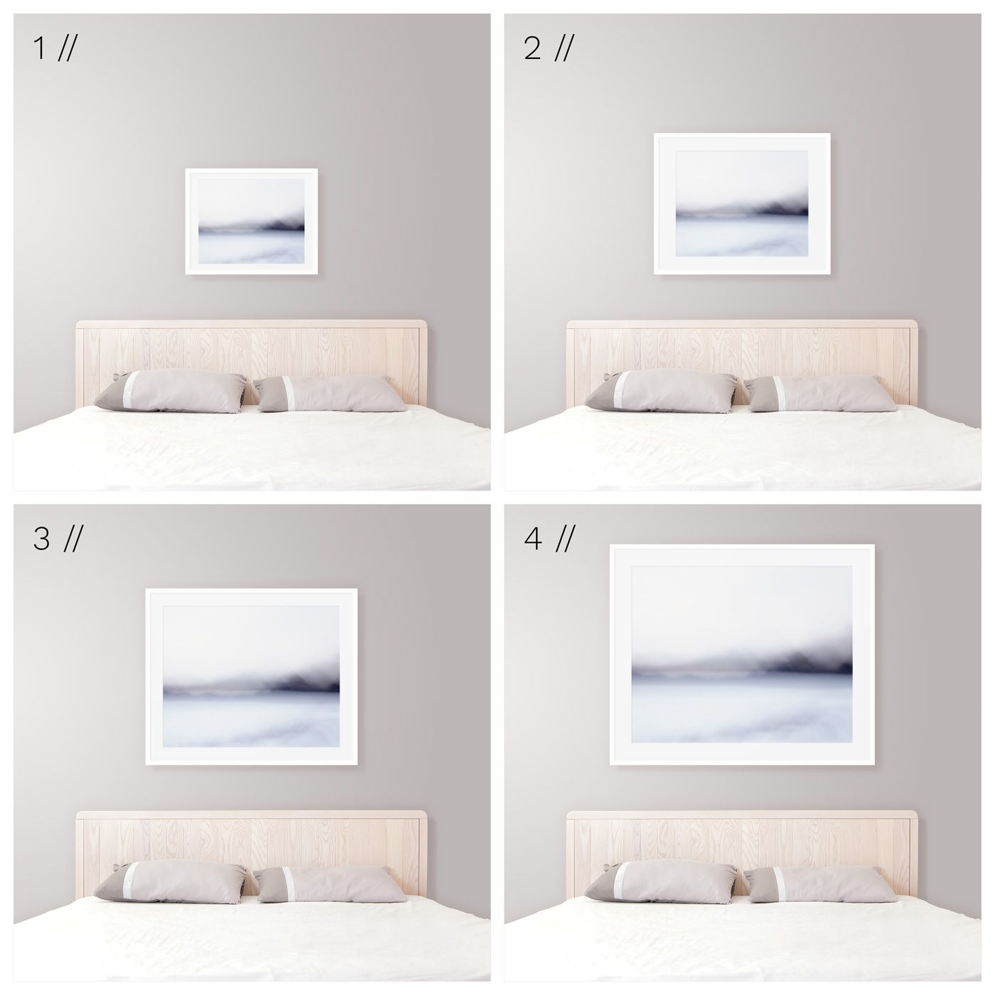 Ideal Art Size Above King Bed Modern Coastal Bedroom Decor Tips Bedrooms