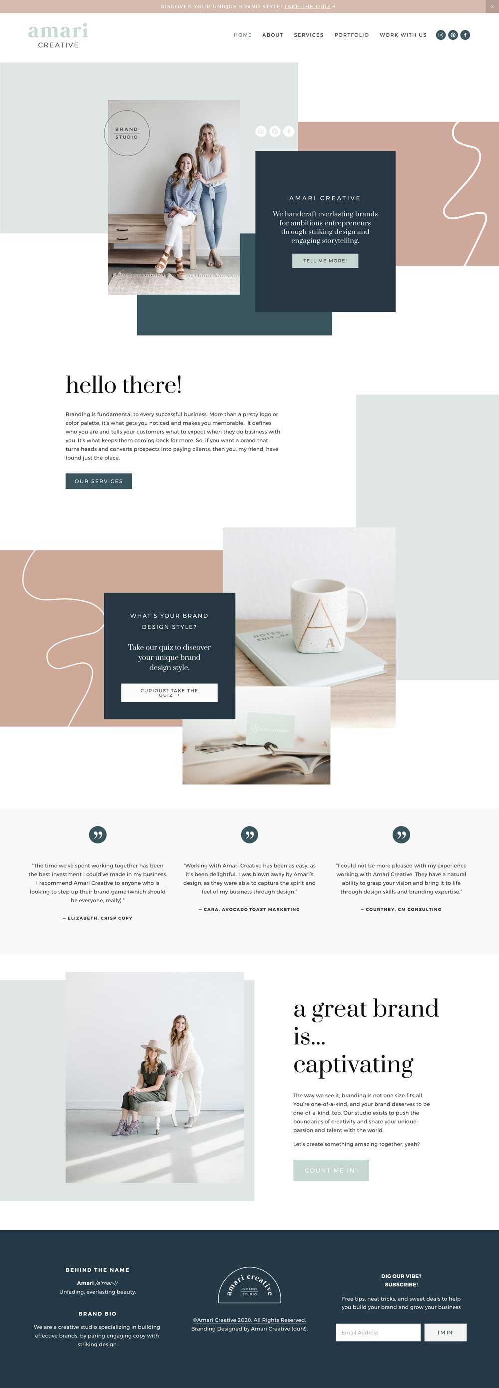 Wildwood Squarespace Template Kit Big Cat Creative Squarespace Templates Blog Layout Design Squarespace Templates Blog Website Design