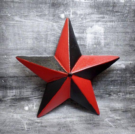Red Black Nautical Star Red Star Psychobilly Pastel Goth