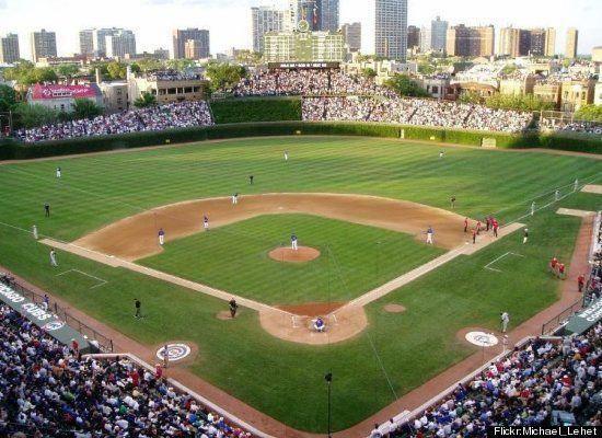 Wrigley Field, baseball, Chicago #baseballfield Baseball Field