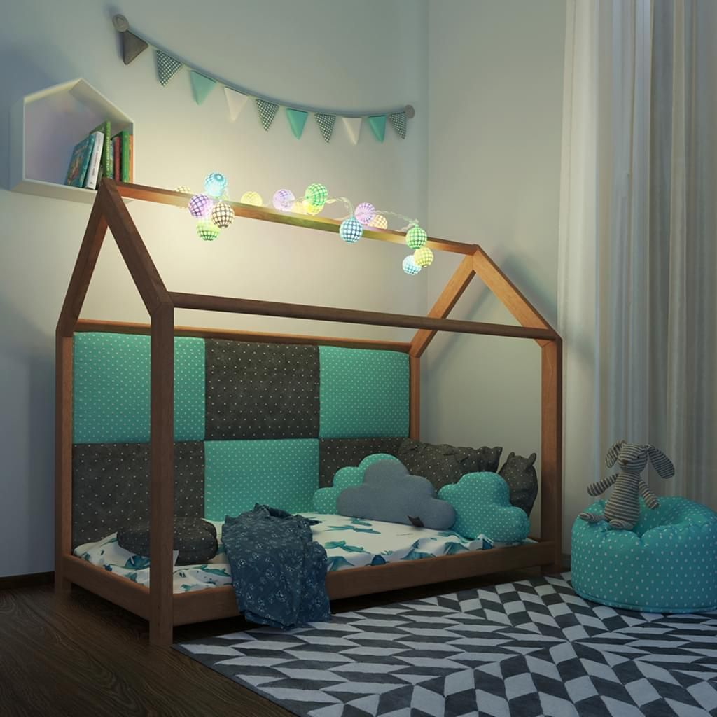 Vitalispa Kinderbett Kinderhaus Natur 90 X 200 Cm Kinder Bett Holz