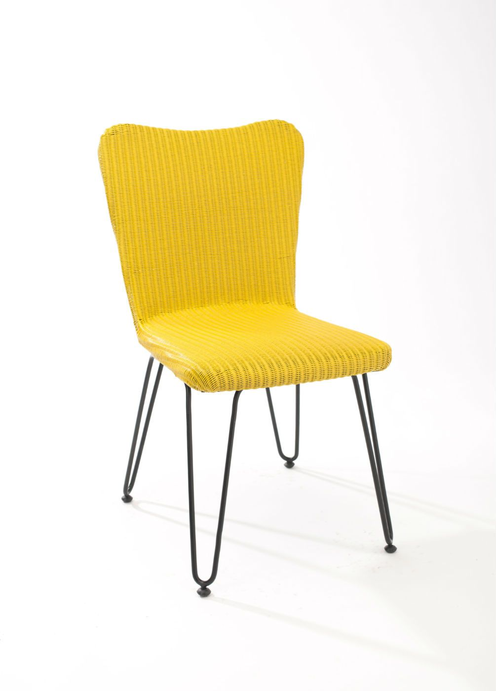 Chaise Style Scandinave Jaune Intrieur Pliante Meuble Agence Ouest