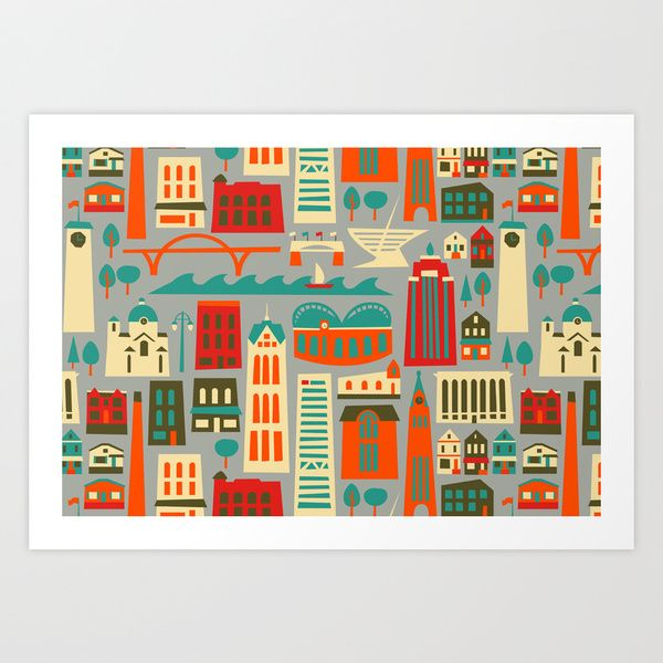 My Fair Milwaukee Art Print by AllisonBeilke | Society6