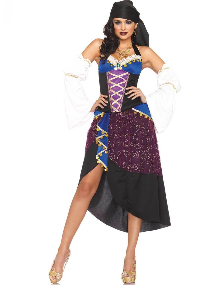 55a3d75195 Disfraz de vidente zíngara gitana para mujer