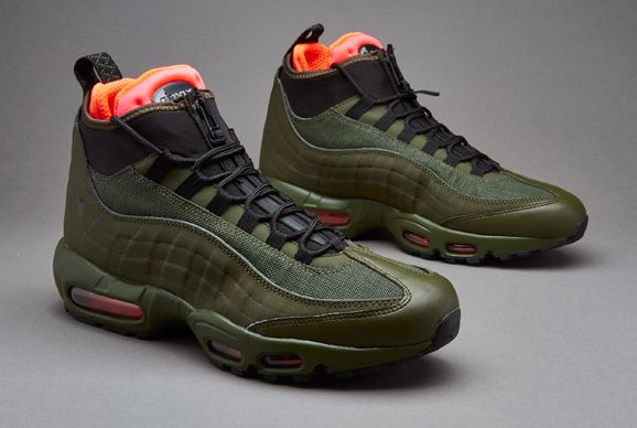 Nike Sportswear Air Max 95 Sneakerboot  Mens Shoes  Dark Loden  Black   Cargo Khaki  Bright Crimson
