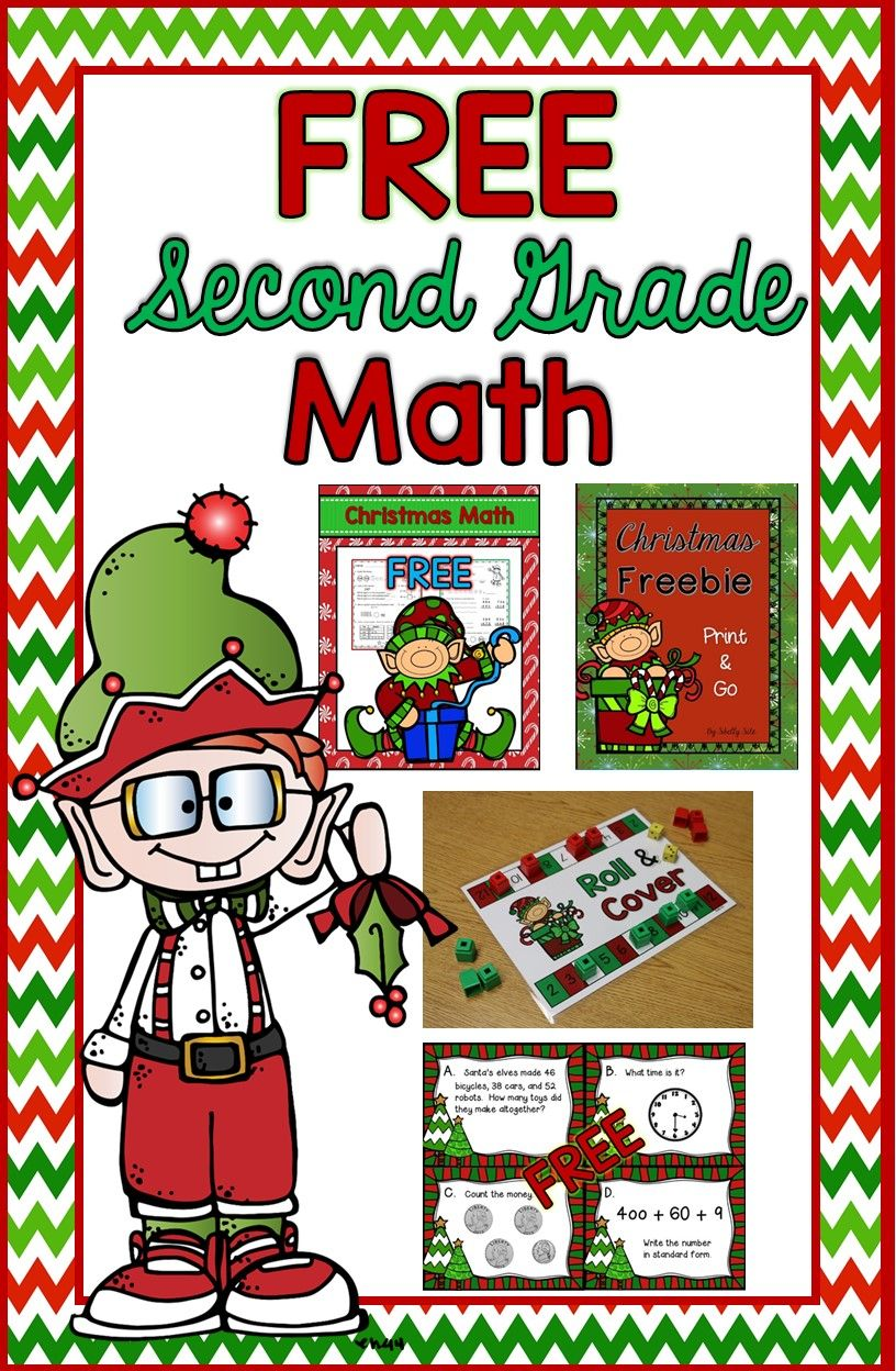 Christmas Craft Ideas For 2nd Graders Part - 48: Christmas Math For 2nd Grade---FREE Math--Christmas Task Cards,