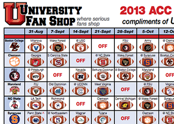 Get your FREE Printable 2013 ACC Football Schedule