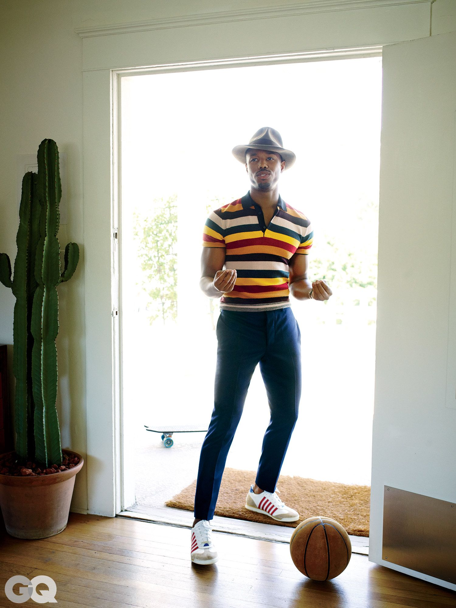 dedfae7a08e353 Michael B. Jordan Shows Us How to Dress Down for the Weekend