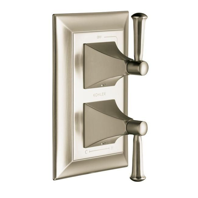 Kohler K-T10422-4S-BN Vibrant Brushed Memoirs Stacked Valve Trim With Stately Design And Lever Handles, Valve Not Include