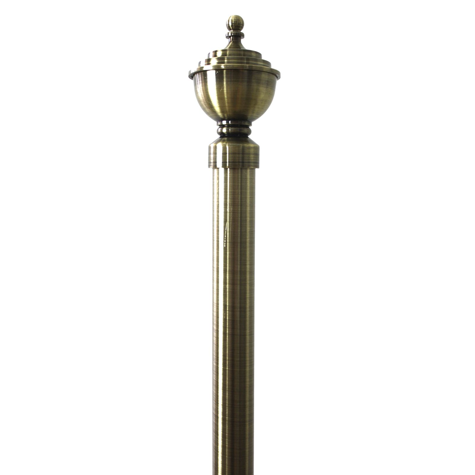 Windoware 130 240cm X 2 5 2 8cm Antique Gold Urn Expanding Curtain Rod Curtain Rods Curtains With Blinds Curtains