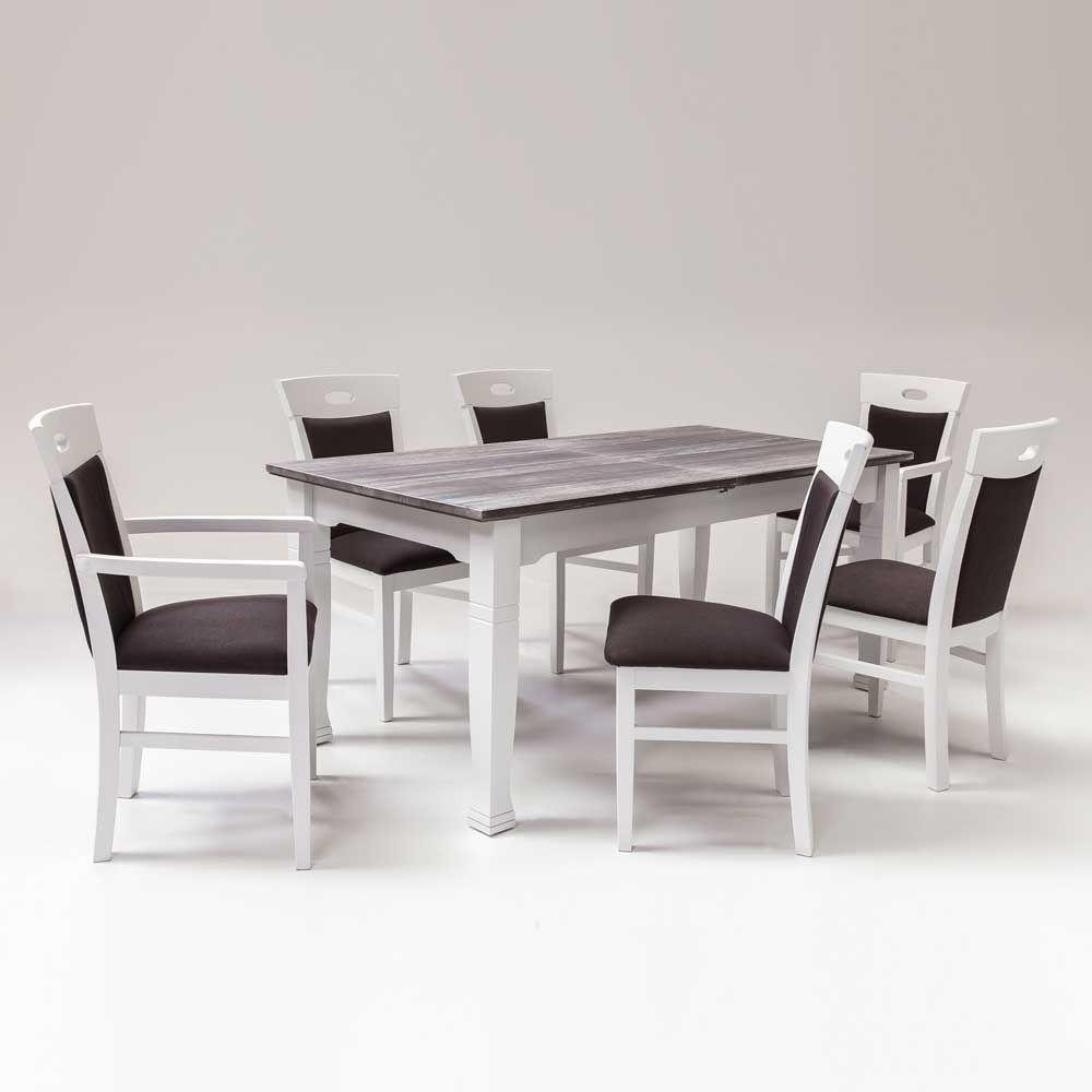 Esstisch mit 6 Stühlen Landhausstil (7-teilig) Jetzt bestellen unter ...