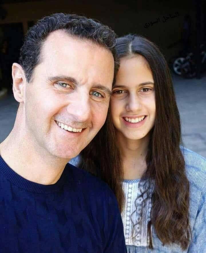 زين بشار الأسد في صورة تجمعها مع والدها السيد الرئيس ...