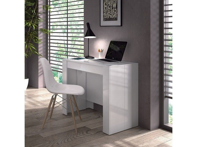 Extending Console Table to Dining Table Unique Design White or