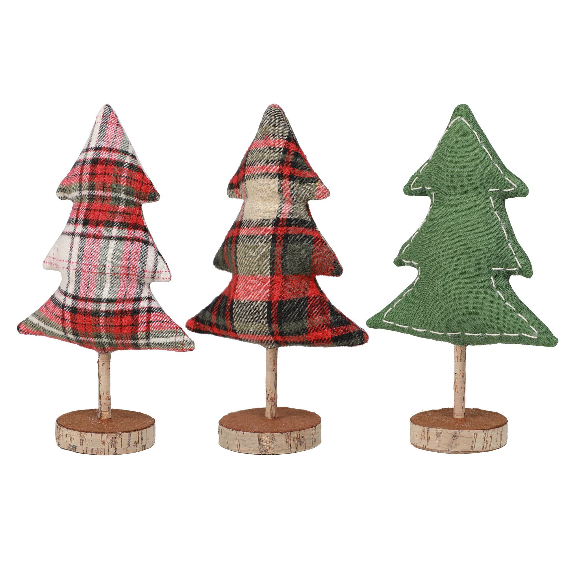 Holiday Time Small Plaid Fabric Tree Table Top Christmas Decoration Assortment 8 H Walmart Com In 2020 Fabric Tree Christmas Fabric Crafts Fabric Christmas Trees
