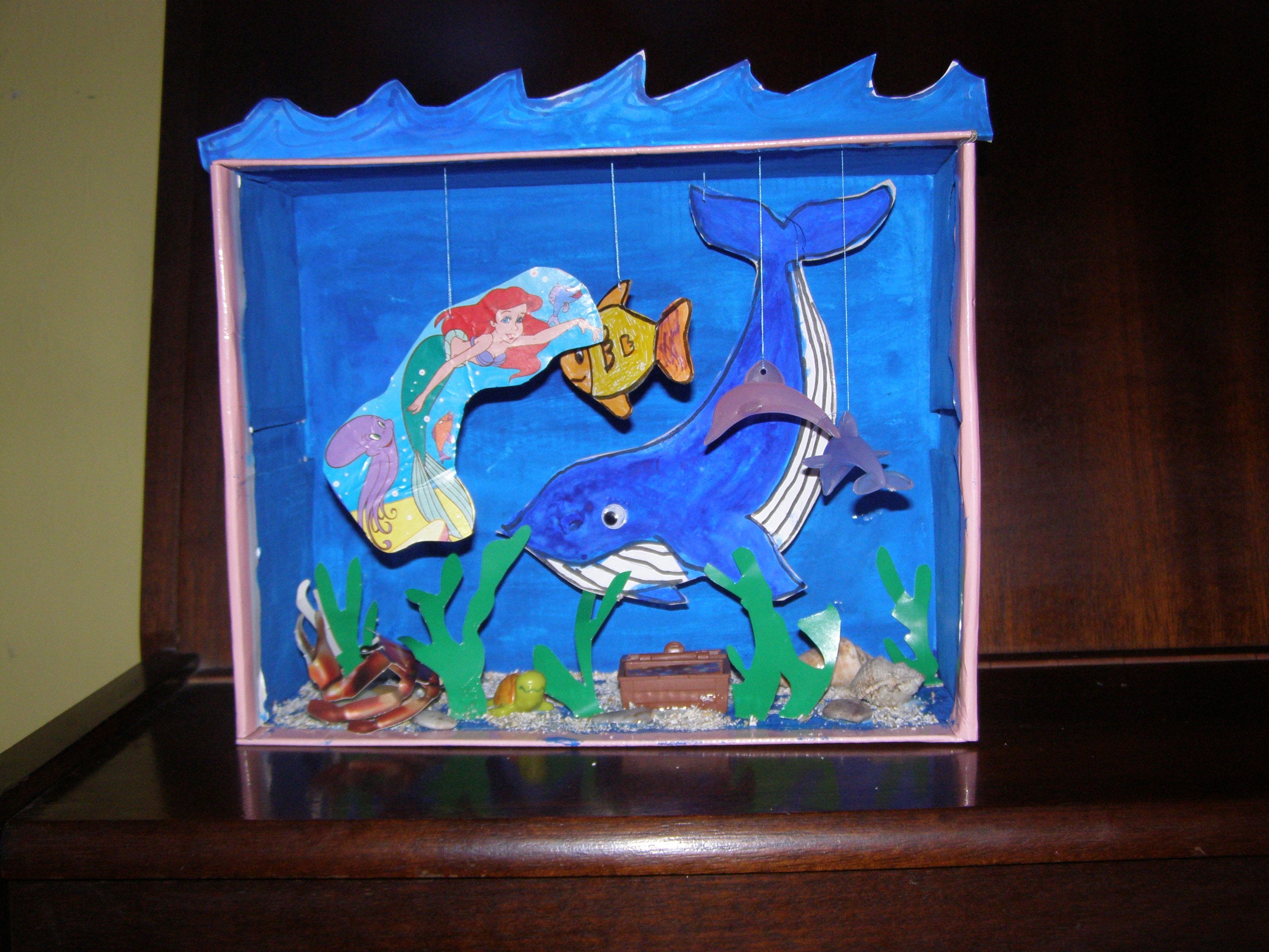 Shoe Box Aquarium Using Oat Bran Toys Pictures And Stuff