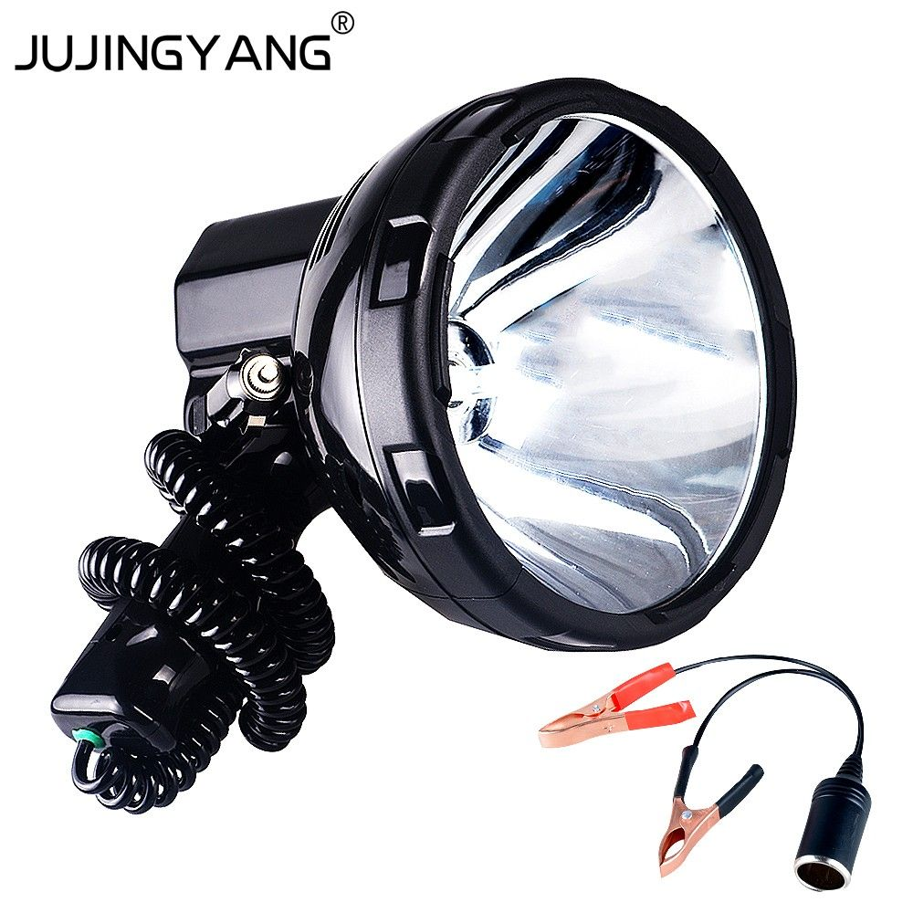 Super Bright 12v 220w Hid H3 Xenon Portable Spotlight For Hunting Camping Vehicle 35w 55w 65w 75w 100w 160w Searchlight Portable Spotlight Hunting Searchlight