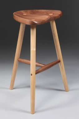 Wooden Stool With Carved Seat Wooden Stools Rustic Stools Wood