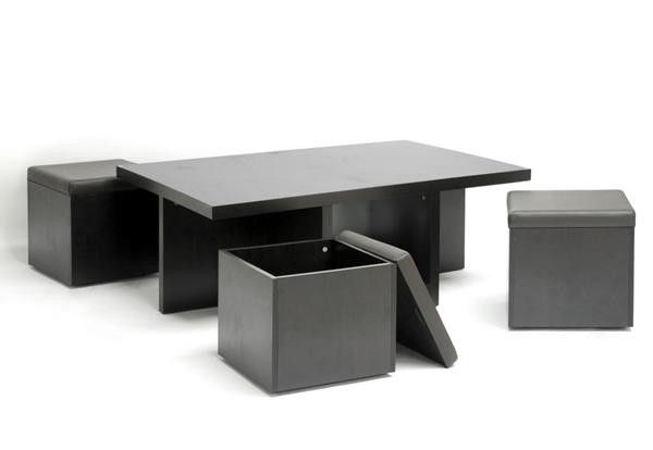 Kacy Modern Ottoman Coffee Table Coffee Table With Stools Convertible Coffee Table Brown Coffee Table