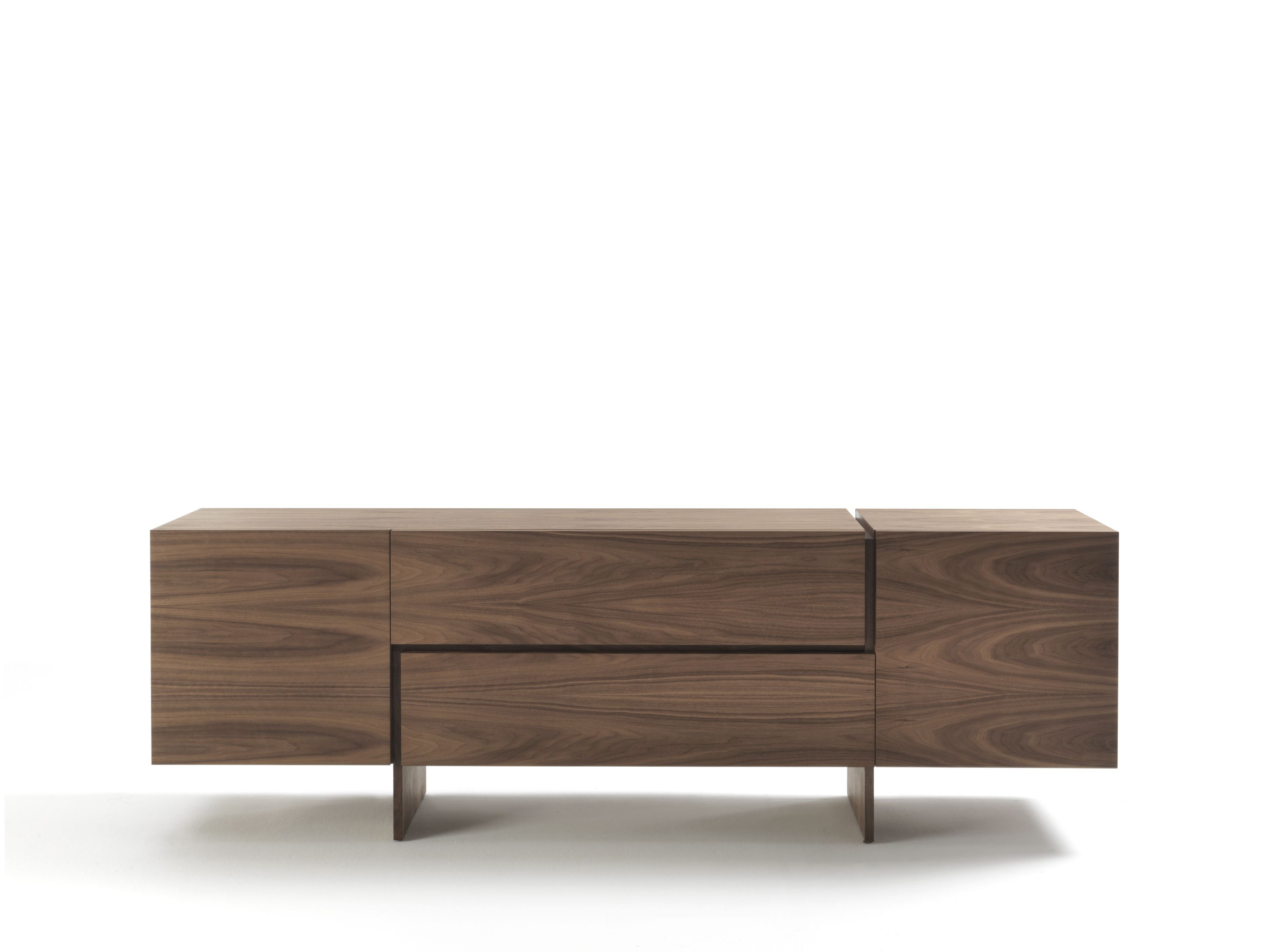 Solid wood sideboard with drawers AKI by Riva 1920 design