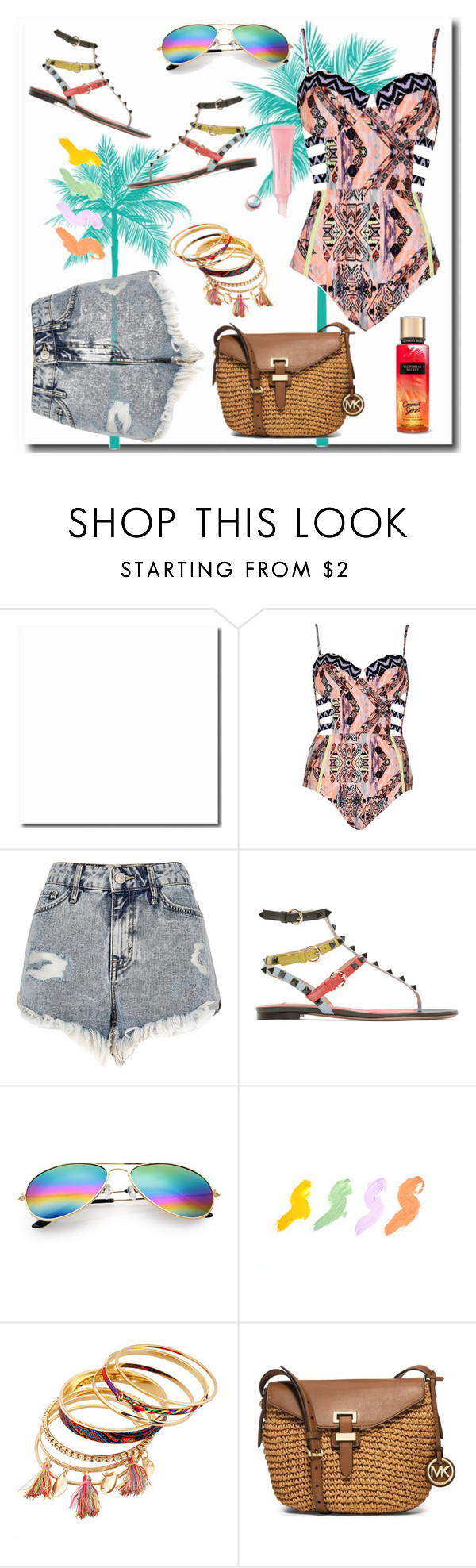 """""""Untitled #607"""" by looks-lie ❤ liked on Polyvore featuring River Island, Valentino and MICHAEL Michael Kors"""