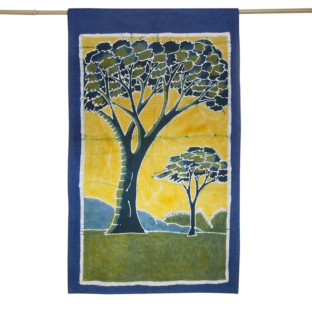 Acacia batik wall hanging | Art -Batik | Pinterest