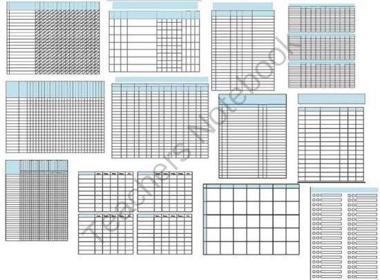 32 Data Collection Sheets Template Packet RTI IEP Progress - progress sheet template