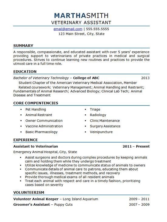 Cv Template Veterinary Student Cvtemplate Student Template Veterinary Medical Assistant Resume Resume Examples Job Resume Examples