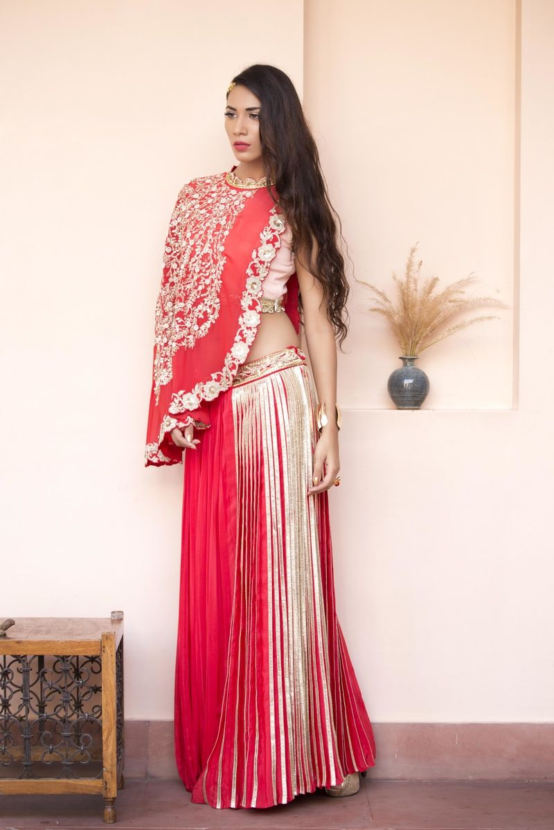 389eb76d31 cape lehenga | LEHENGA CHOLI | Wedding reception outfit, Bridal ...