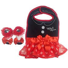 Disney Minnie Mouse Bib and Bootie Set