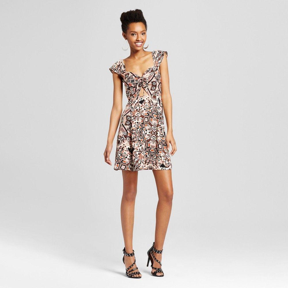 Women\'s Flutter Sleeve Cutout Dress - Xhilaration (Juniors\') Black ...